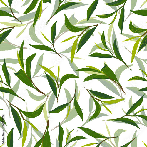Pure tea in two layers. Hand drawn seamless pattern © irache