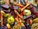 Roasted fruits and vegetables - 101084345