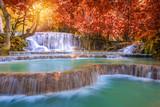 Fototapety Waterfall in rain forest (Tat Kuang Si Waterfalls at Luang praba