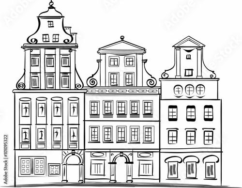 Fototapeta Wroclaw Rynek square facades
