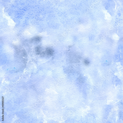pattern background blue/ Watercolor painting. Can be used for postcards, prints, paper wrapping and design - 101105327