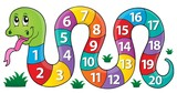 Snake with numbers theme image 1