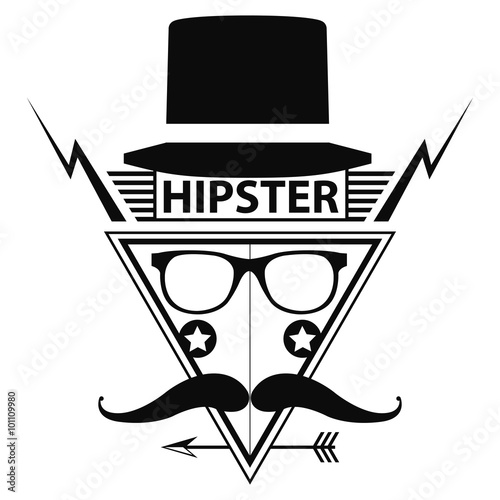 hipster logo style, vector illustration