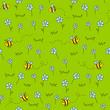 Obrazy na płótnie, fototapety, zdjęcia, fotoobrazy drukowane : Seamless pattern with green meadow