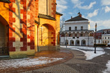 Church in the old town of Banska Bystrica, central Slovakia.