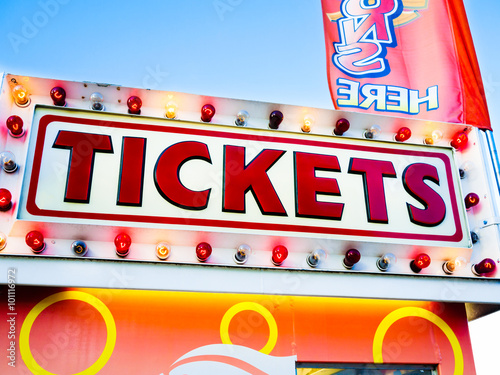 Carnival Tickets Sign