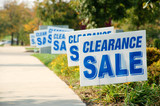Clearance Sale Signs in a Row Picture - 101117703