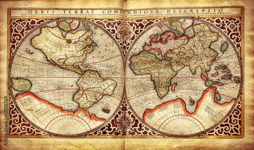 stara-mapa-swiata-wydrukowana-w-1587-roku