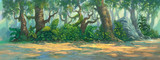 forest background painting