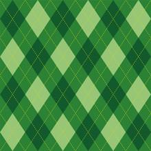 Het patroon van Argyle groen ruit naadloze textuur, illustratie
