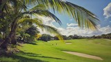 Golf field in the tropics
