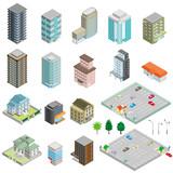 Fototapety 様々な建物 / 立体図