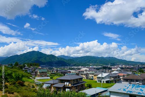 Cityscape of Iida in Nagano, Japan