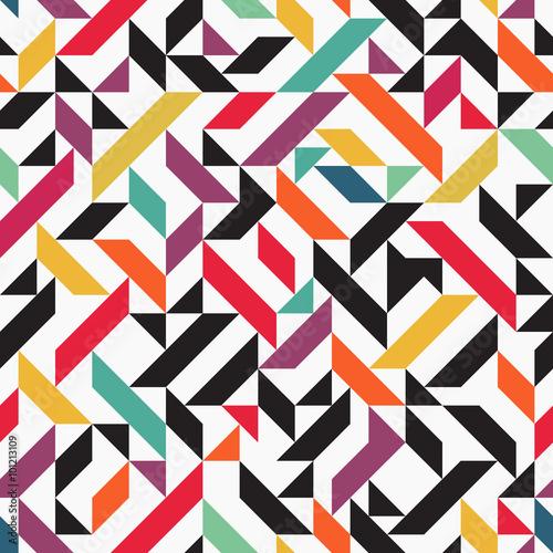 Fototapeta Triangle seamless background, retro design, vector illustration