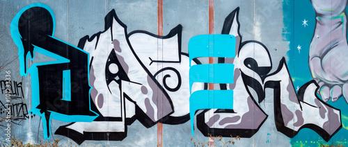 Graffiti art wall © jon manjeot