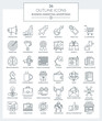 Outline Icons Marketing and Advertising