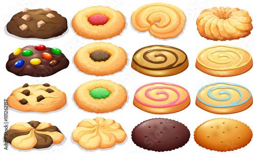 Fototapeta Different kind of cookies