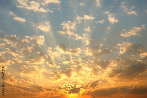 Fototapeta The sun rise with clouds