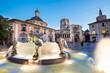 Obrazy na płótnie, fototapety, zdjęcia, fotoobrazy drukowane : Square of Saint Mary's, Valencia, Spain.