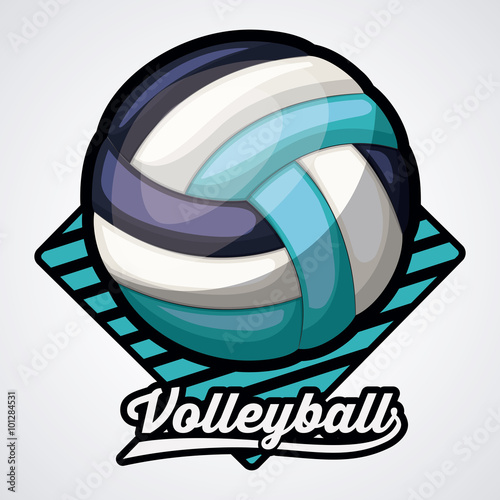 fototapeta na ścianę volleyball league design