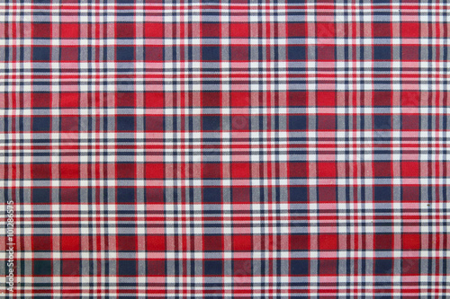 Poster Plaid Patterns in Red, Dark Navy Blue, and White.