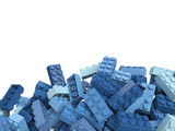 Fototapety Lego toy plastic bricks background in warm colors