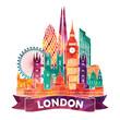 roleta: London Skyline abstract. Vector illustration