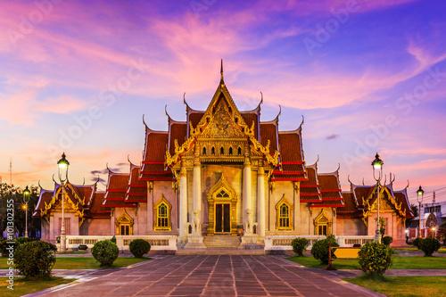 Bangkok, Thailand. Wat Benchamabopit ( Marble temple) Poster