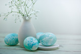 Easter eggs composition in watercolor soft style - 101313963