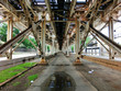 Chicago el tracks from underneath centered - landscape photo