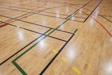 Fototapety Retro indoor gymnasium floor