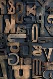 Letterpress alphabet - 101342153