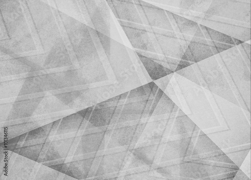 abstract white gray background, triangles and angled shapes layered line design element, faded texture design, geometric background - 101346115