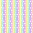 Materiał do szycia パステルカラーのストライプ+星柄 シームレスパターン レインボーカラー