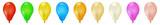 Fototapety Bunte Vektor Luftballons - Sammlung, Set, Gruppe als Vorlage. Ballons für Party und Geburtstag - Dekoration, Deko. Set of Colorful Vector Balloons - Isolated on White Background