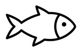 Fototapety Fish or seafood line art icon for food apps and websites