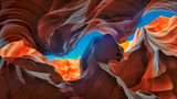 The Magic Antelope Canyon in the Navajo Reservation, Arizona, United States.