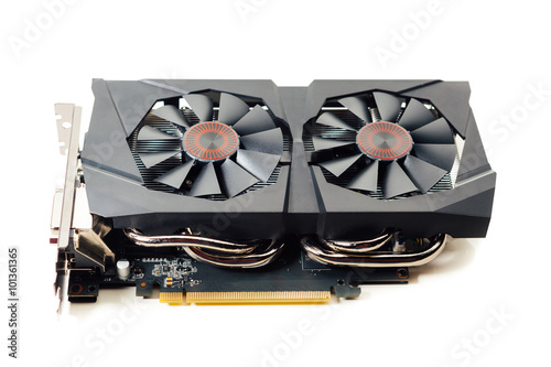 Poster graphic video card, isolated on white