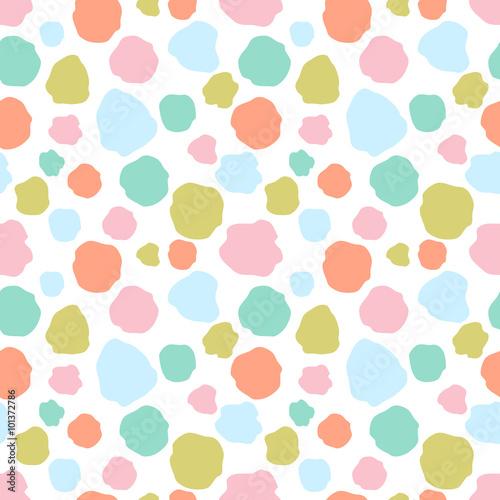 Cotton fabric Seamless colorful dots pattern