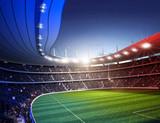 Stadion farbiges Licht Frankreich 1