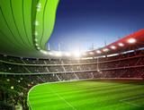Stadion farbiges Licht Italien 1