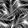 Cotton fabric Palm Tree Leaves Seamless Pattern