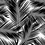 Palm Tree Leaves Seamless Pattern