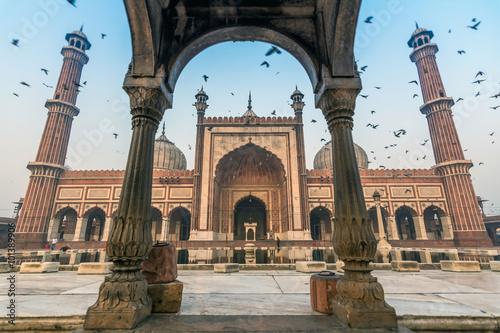 fototapeta na ścianę Jama Masjid, Old Delhi, India