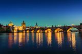 Prague at dusk; Czech Republic - 101394300