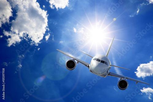 mata magnetyczna Flugzeug in Sonne und Wolken