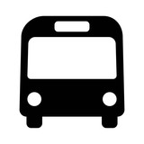 Bus public transportation flat icon for apps and websites