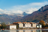 Panoramic view on Lugano lake, Switzerland
