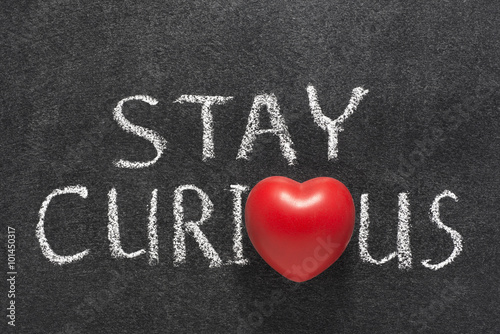 Poster stay curious heart