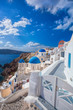 Oia village on Santorini island in Greece